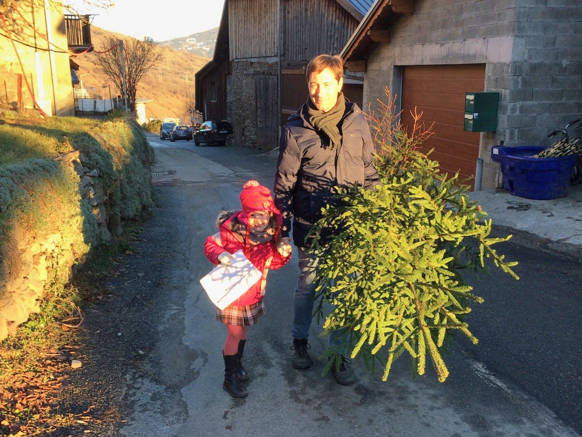 Christmas in France - Getting our Christmas tree in the Alps of Savoie © French Moments