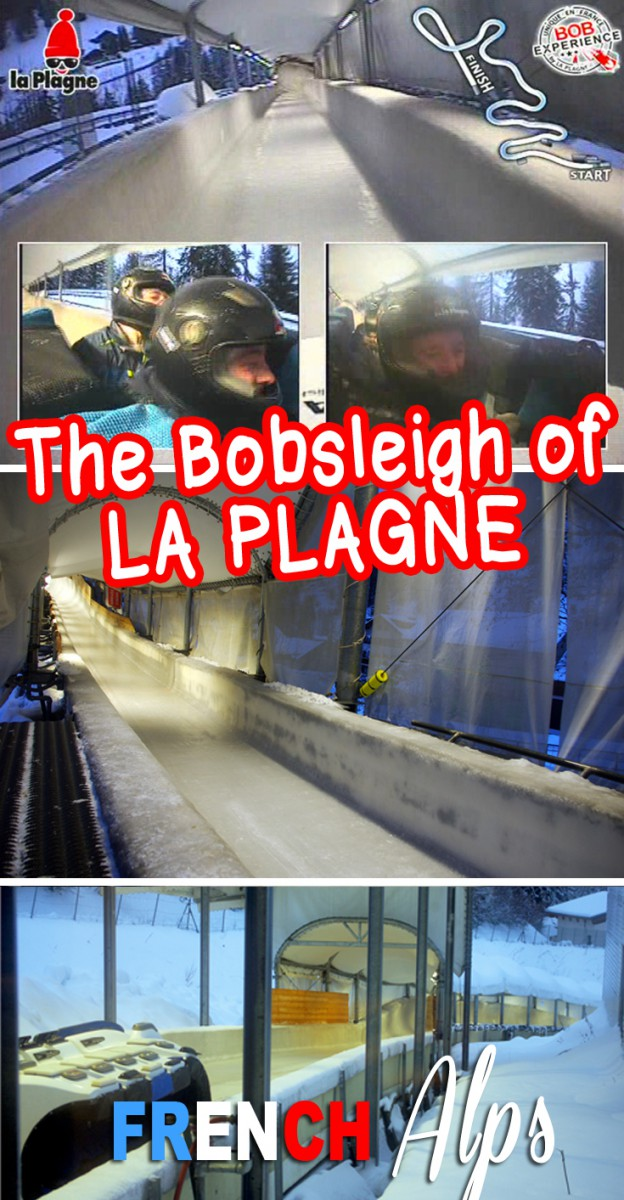 What it's like to run the La Plagne Bobsleigh track © French Moments