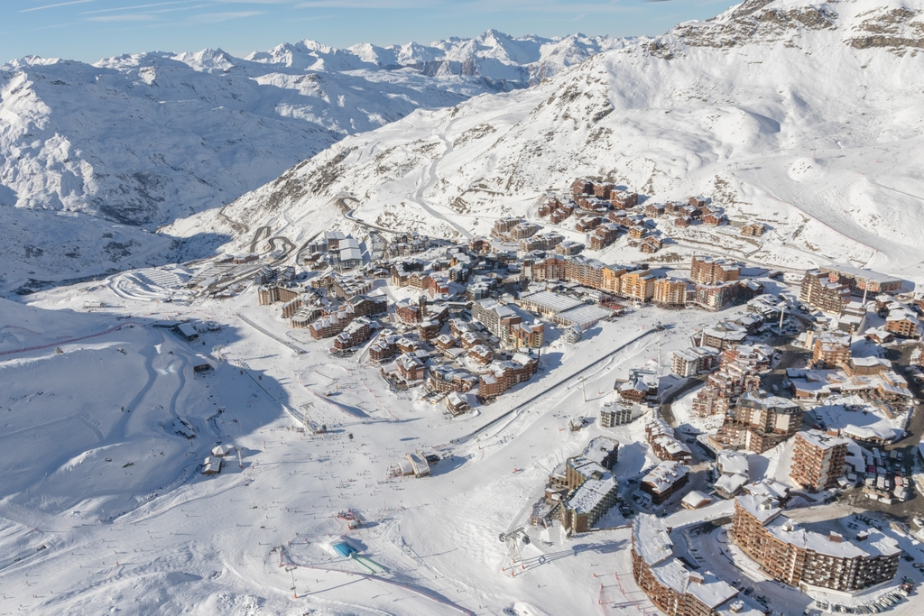Val Thorens from above © C.Cattin OT Val Thorens