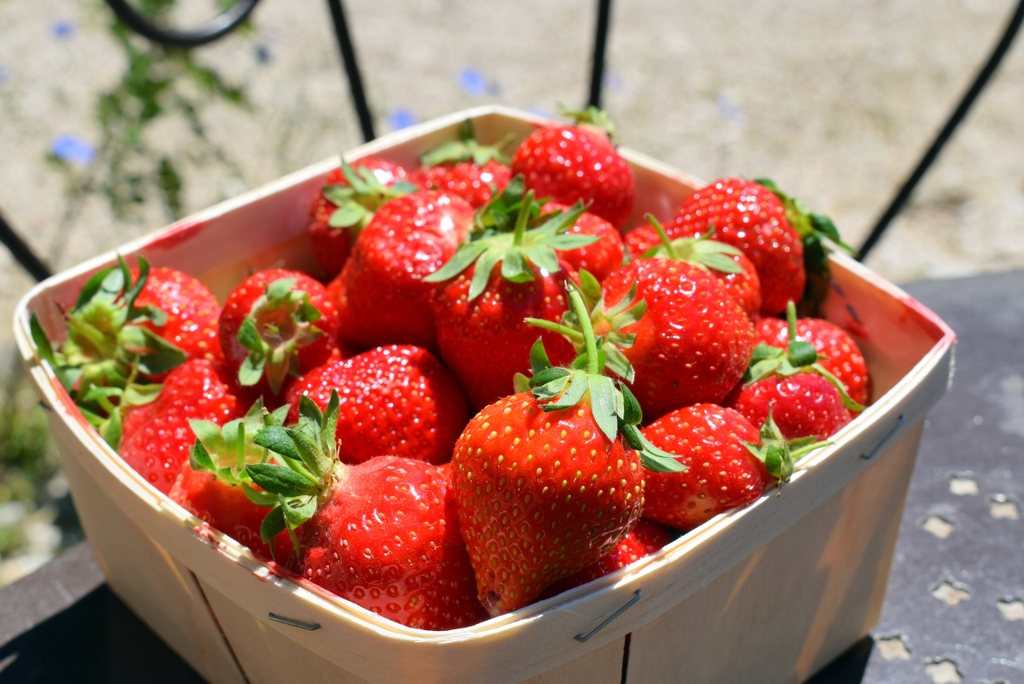 Strawberries at the local market of Bédoin © French Moments