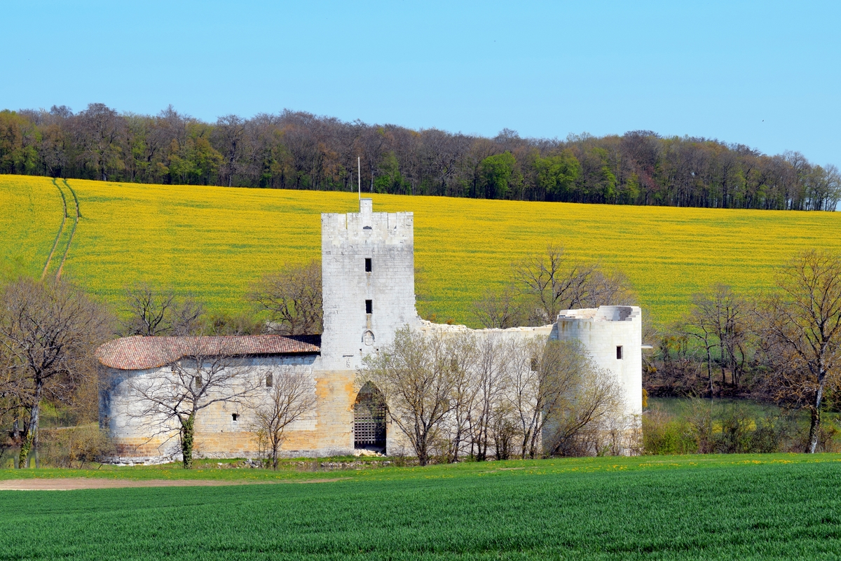 Photos of spring in Lorraine - The castle of Gombervaux © French Moments
