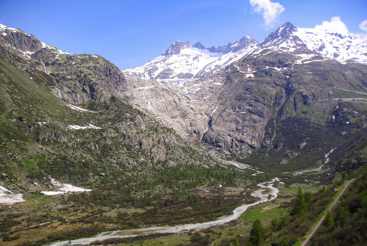 The Rhône glacier in Switzerland © Unknown - licence [CC BY-SA 3.0] from Wikimedia Commons