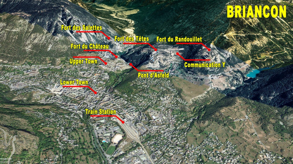 Situation Map of the Fortified Town of Briançon