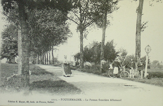 Germany in French - the former French-German border at Foussemagne near Belfort
