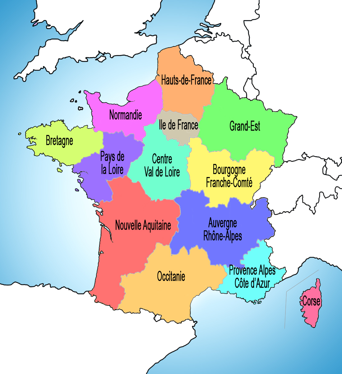 France Map of Regions © French Moments