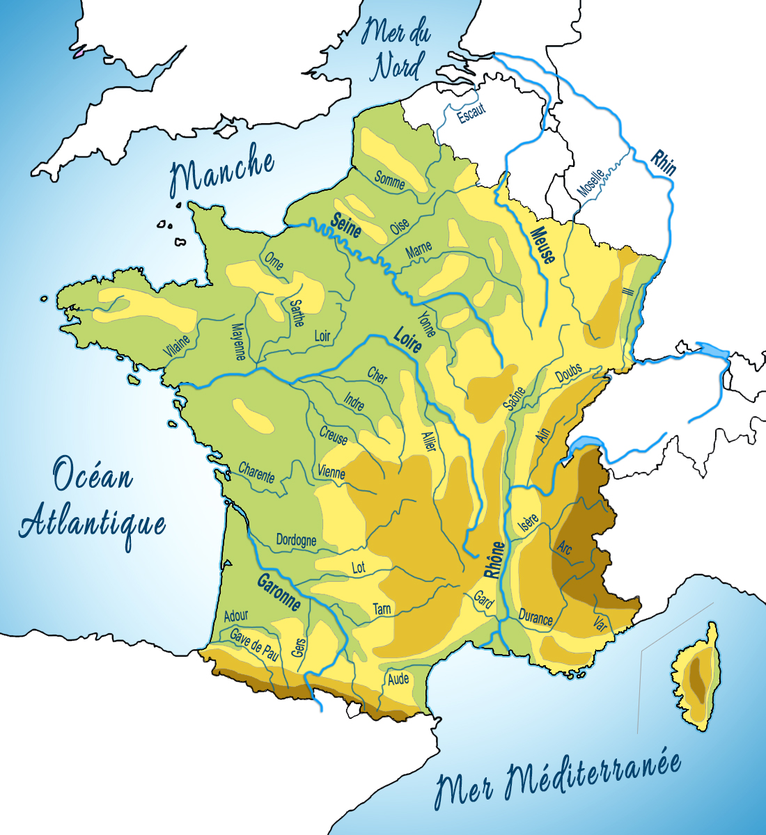 Map of the Rivers of France © French Moments