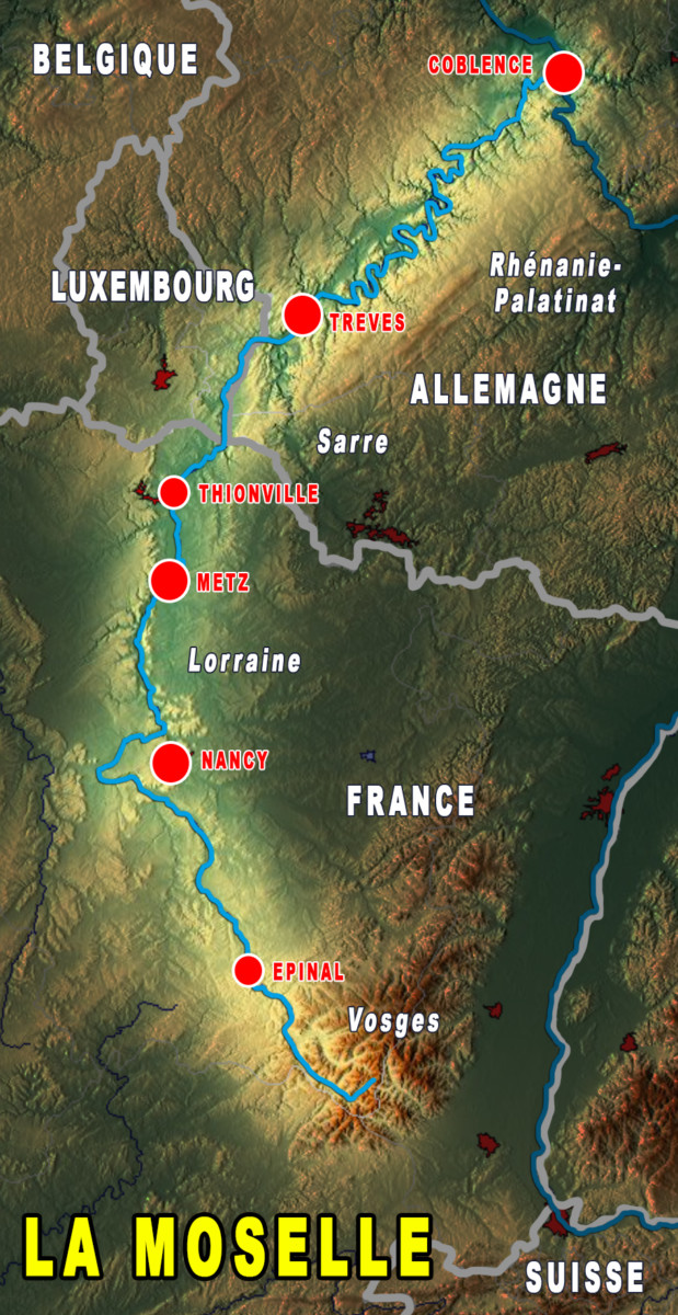 Map of the Moselle Valley