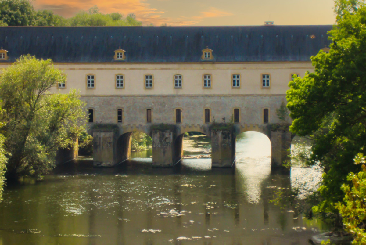 Thionville lock bridge. Photo Public Domain