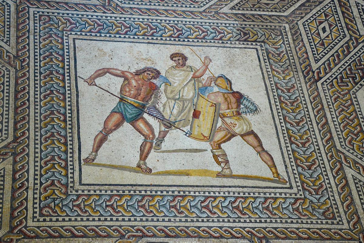 Mosaic of the Roman villa of Nennig © Carole Raddato - license [CC BY-SA 2.0] from Wikimedia Commons