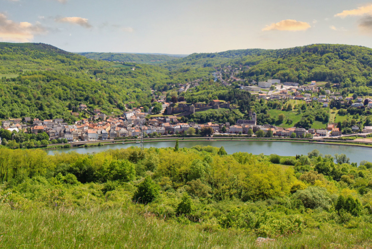 Moselle Valley - General view of the picturesque site of Sierck-les-Bains from the Stromberg. Public Domain Photo