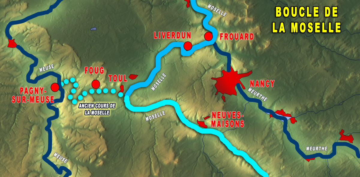 Map of the Moselle Loop