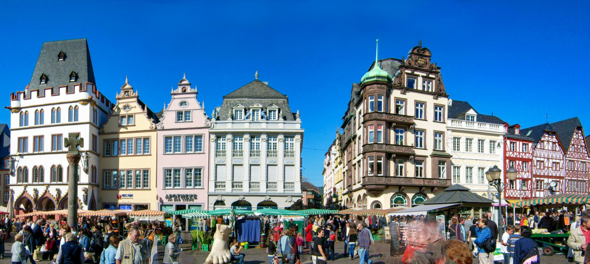 The Market Square of Trier (Marktplatz) © Lokilech - license [CC BY-SA 3.0] from Wikimedia Commons