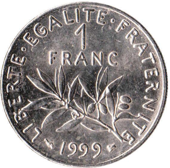How France got its name - One French franc [Public Domain]