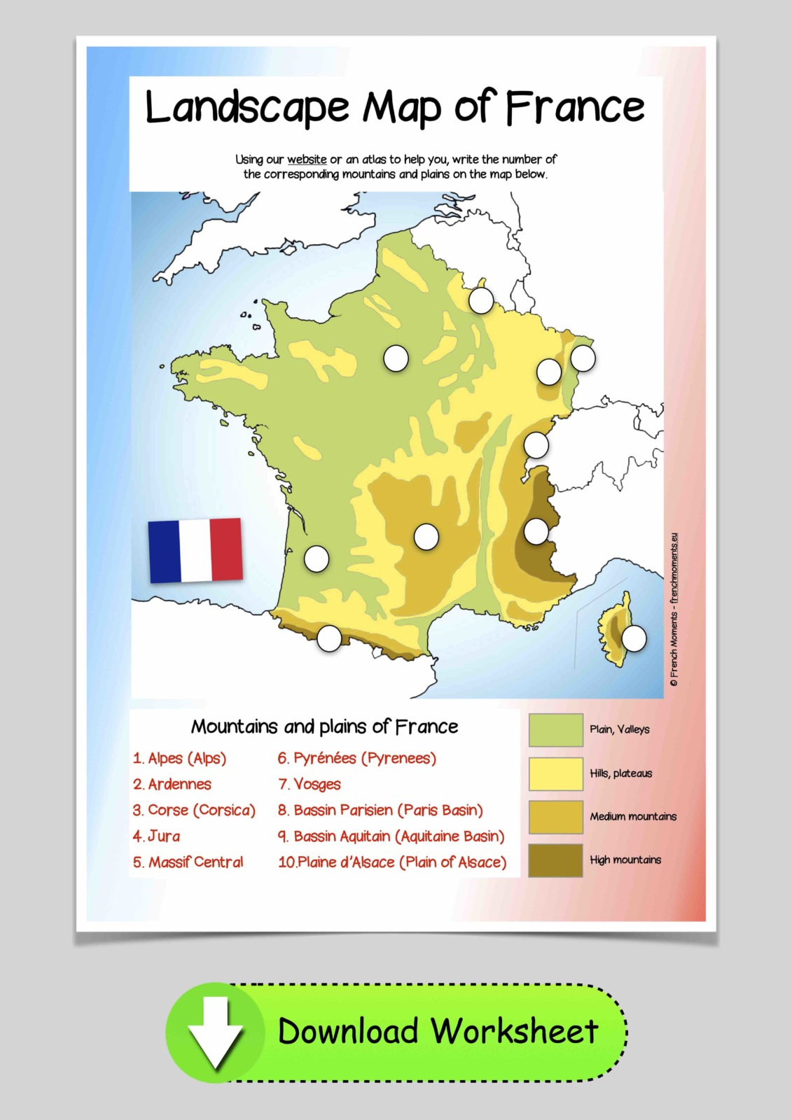 France Landscape Map © French Moments