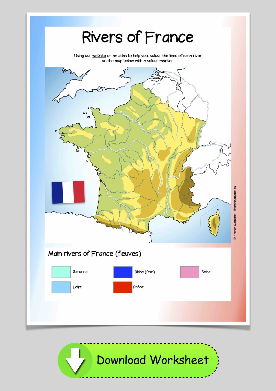Map of France Rivers © French Moments