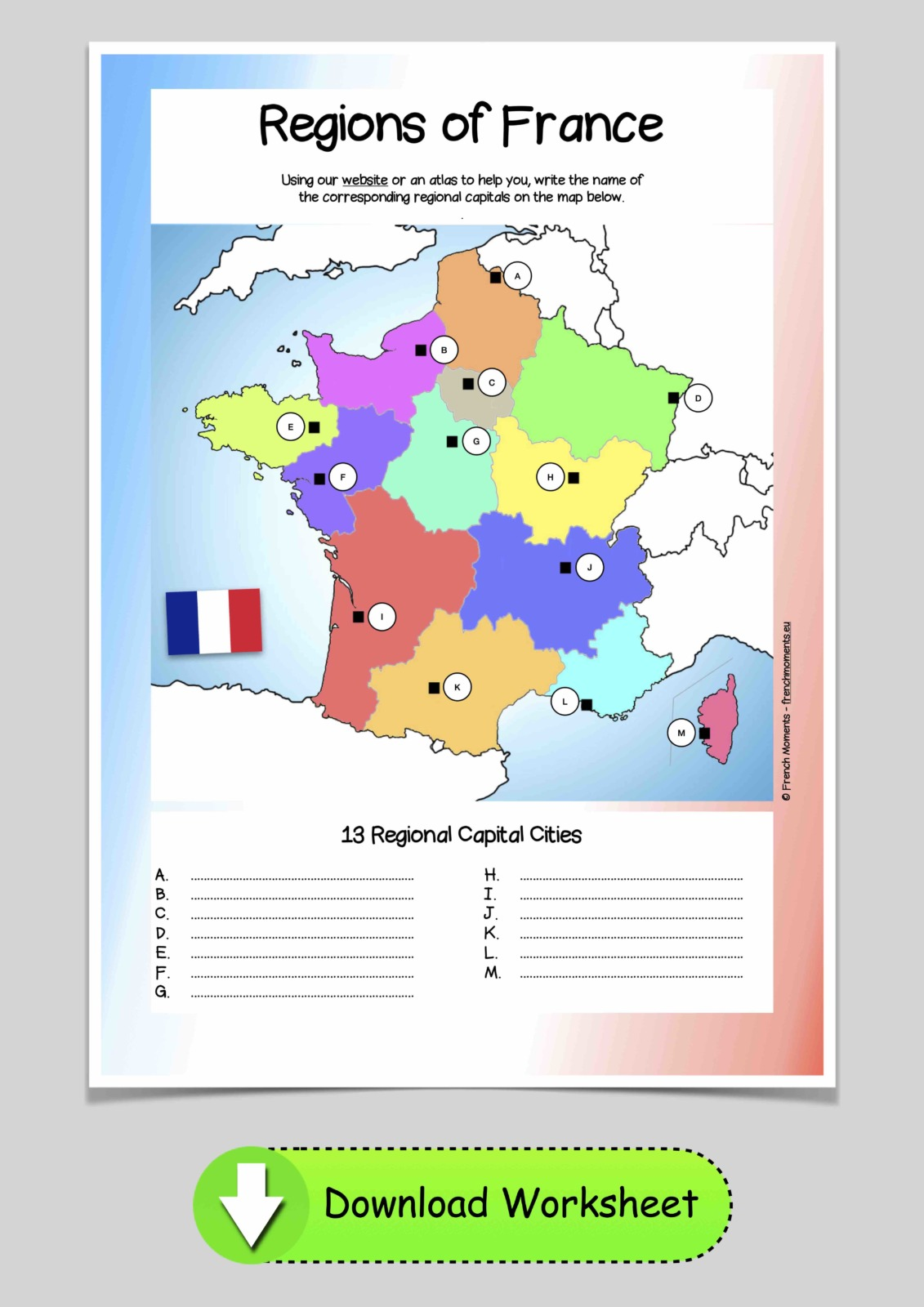 Map of the regions of France © French Moments