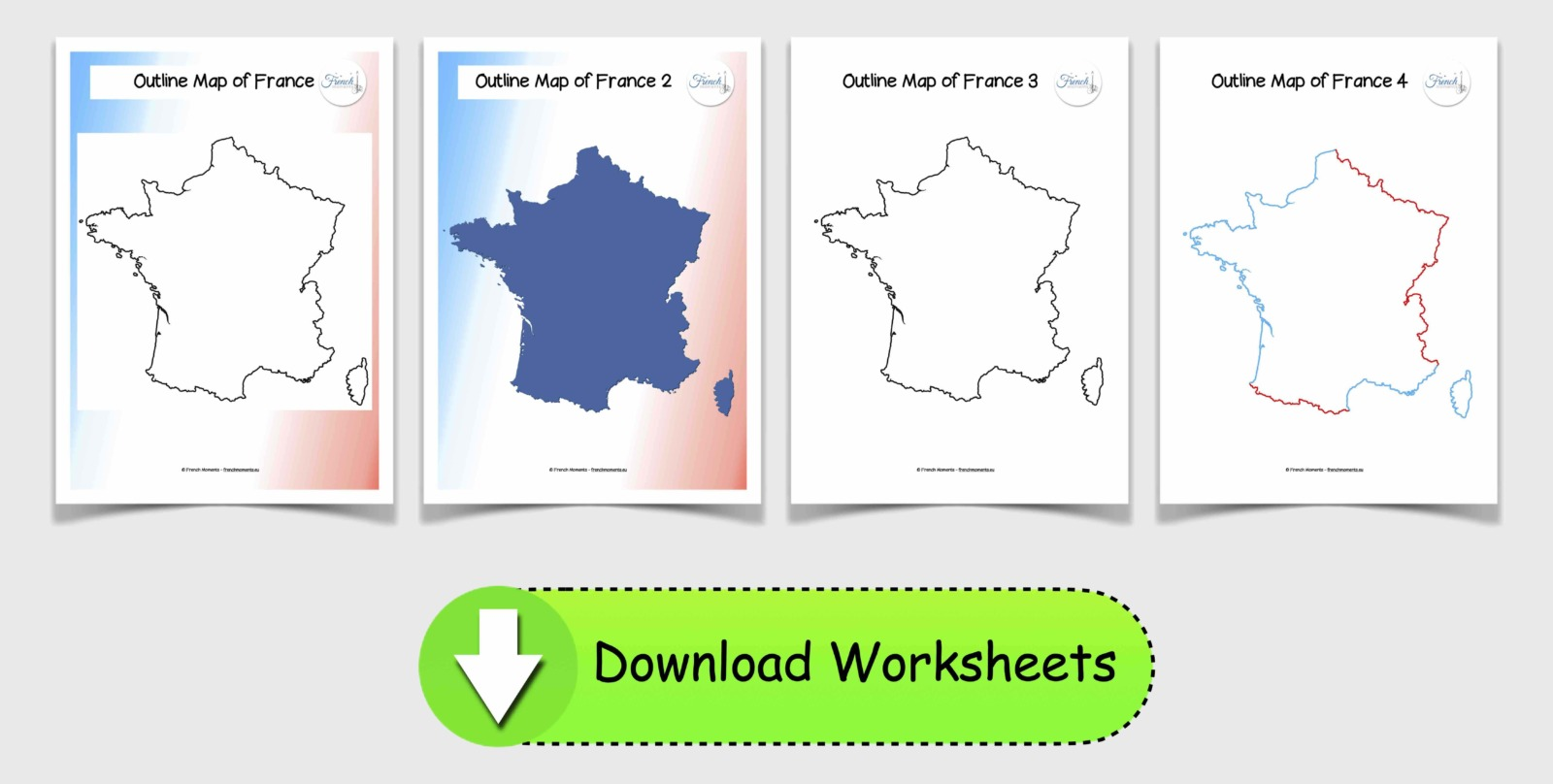 Blank Maps of France © French Moments