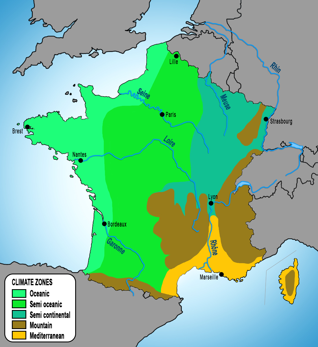France Climate Map copyright French Moments