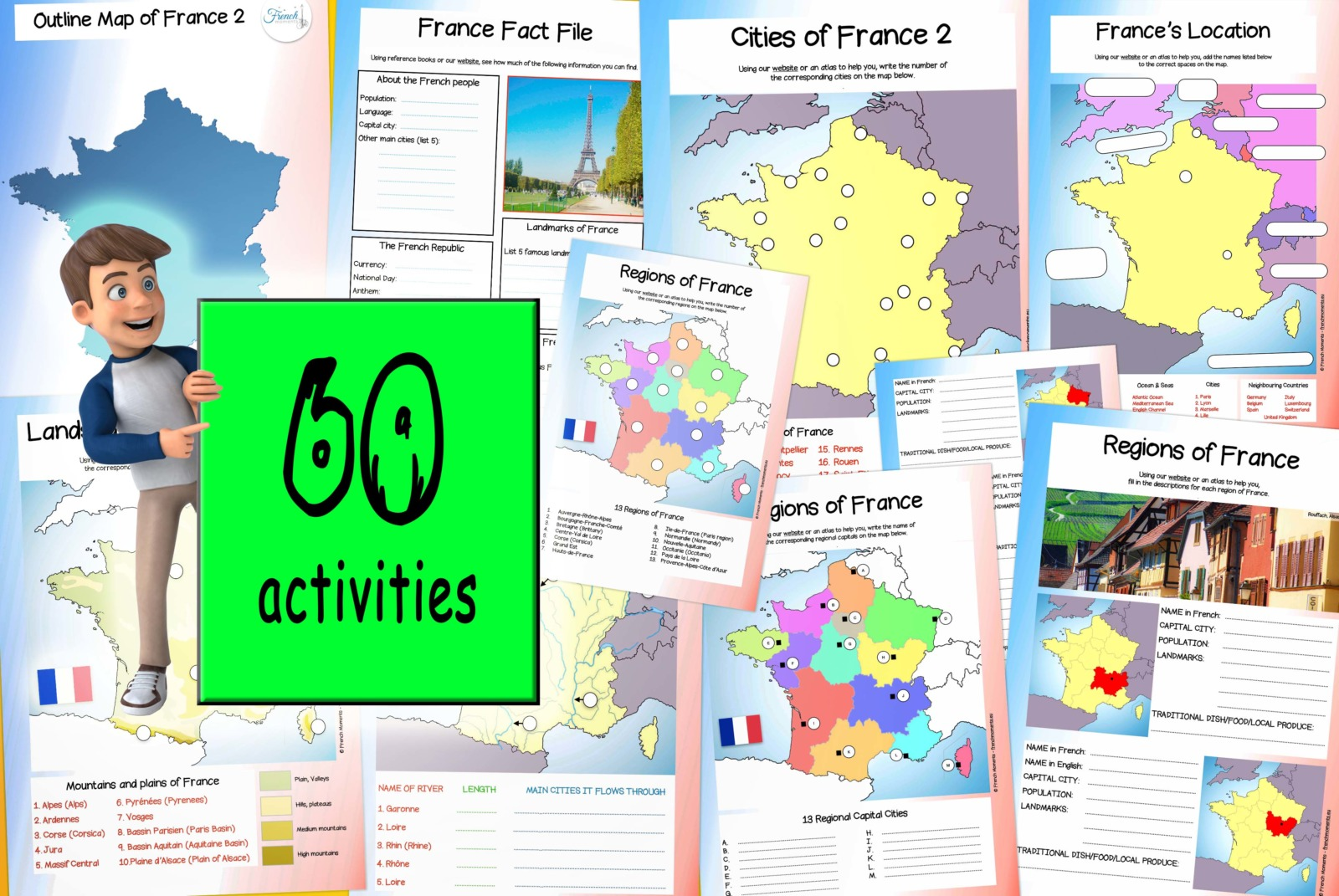 Geography of France Workbook © French Moments
