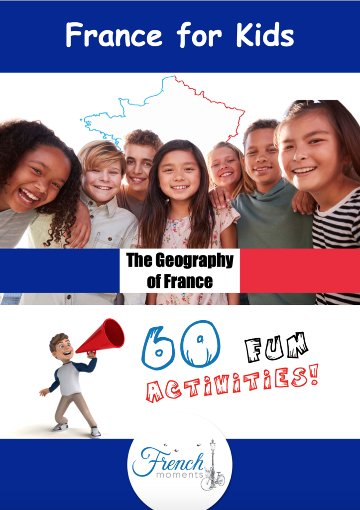 Geography of France for kids Activity Workbook