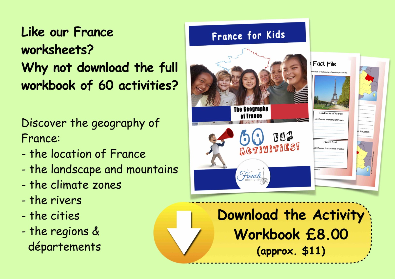 Geography of France Activity Workbook © French Moments