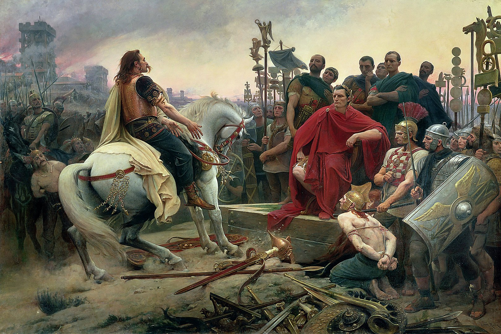 Siege of Alesia - painting by Lionel Royer, 1899