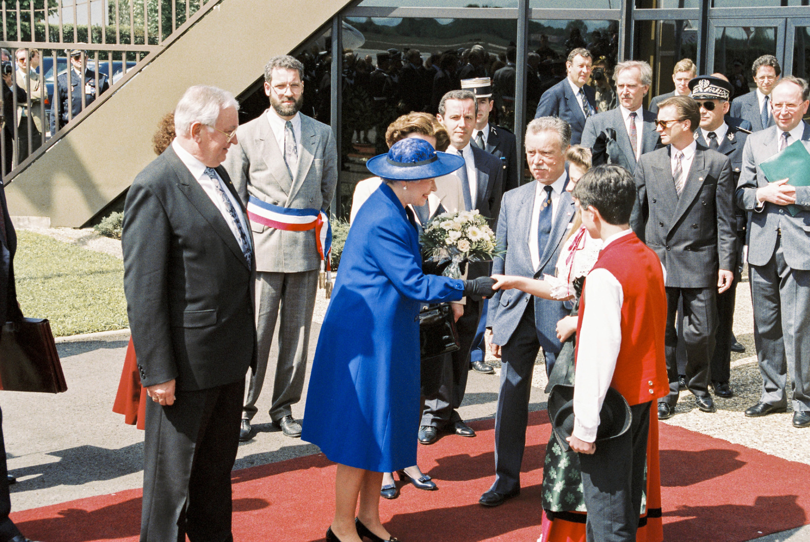 Queen Elizabeth II in France - official visit to the EP in Strasbourg © Egon Klepsch - Communautés Européennes 1992 - Source / PE