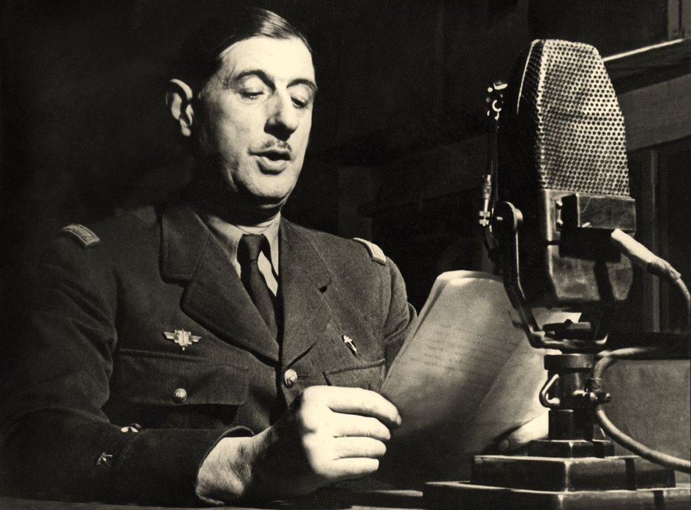 Charles de Gaulle speaking at the BBC in London (1940)