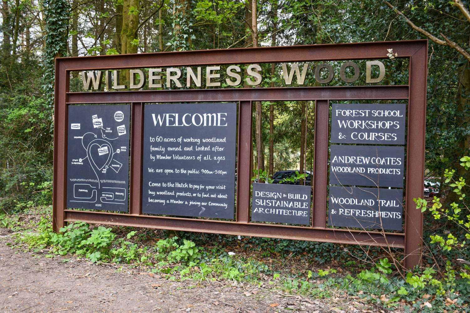 The entrance to Wilderness Wood © French Moments