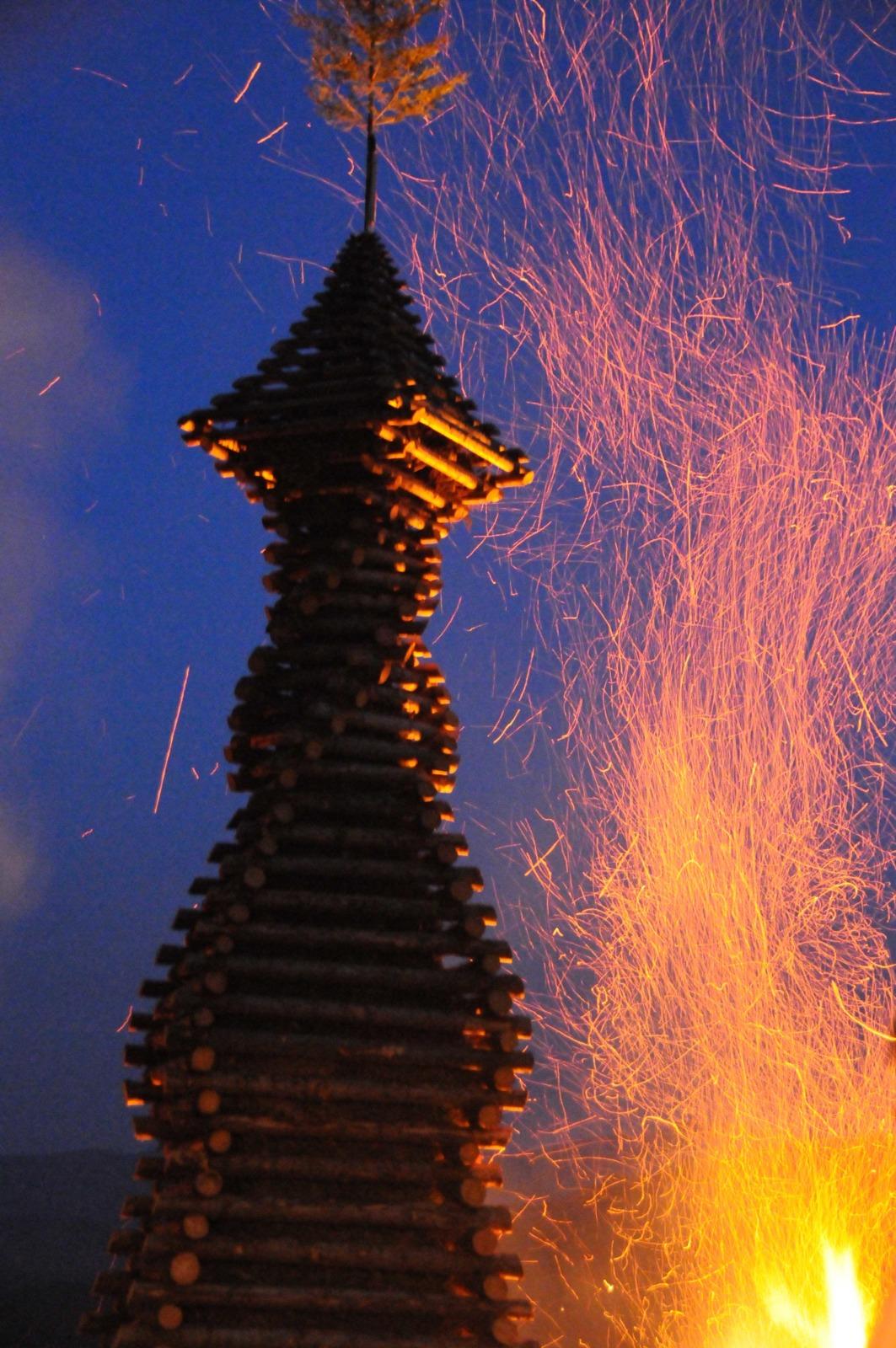 Feast of Saint John in France - Midsummer fire in the Saint-Amarin valley © Daniel Nussbaum