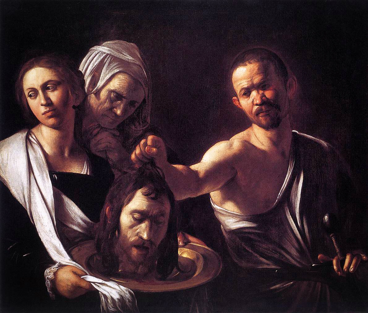Salome with the head of St John the Baptist (1607), by Caravaggio