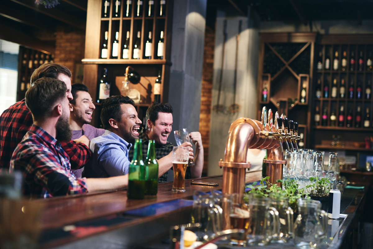 Meeting with friends in Paris Sports Bars. Photo by gpointstudio @ Envato Elements