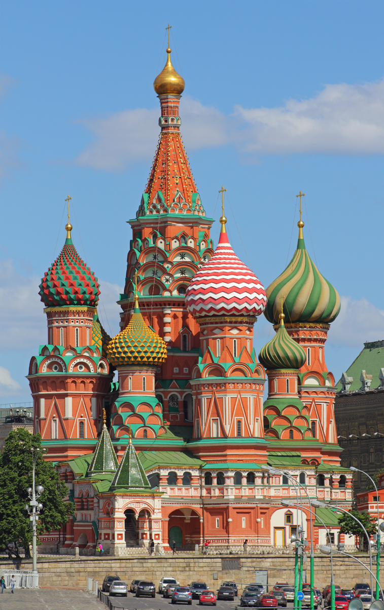 Moscow St Basil Cathedral © A.Savin - licence [CC BY-SA 3.0] from Wikimedia Commons